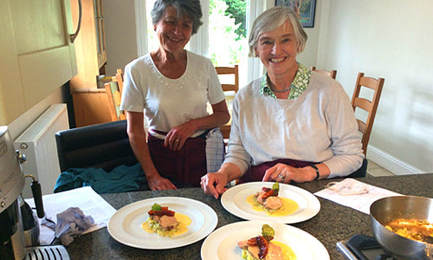 Cookery lessons with Michel Lemoine at Michel's Kitchen near Bath and Bristol